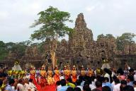Work begins to restore entrance of Cambodia's iconic Angkor Wat