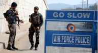 Pathankot: Security beefed up at Pathankot Air force base during the visit of Prime Minister Narendra Modi days after terrorists attack, in Pathankot. (Photo: IANS)