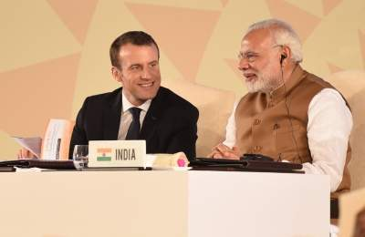 Modi in France: Macron speaks against 'third party' interfer...