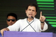 Rahul Gandhi protests at Parliament in support of agitating farmers