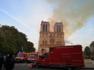Firefighters battle to save iconic Notre Dame cathedral