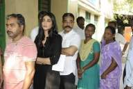 MNM chief Kamal, daughter vote