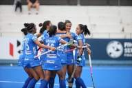 Victorious Indian women's hockey team back in Delhi