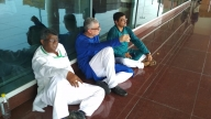 TMC delegation going to Sonebhadra detained at Varanasi airport (Lead)
