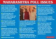 3 issues that will determine how Maharashtra votes today
