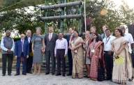Dutch royals visit waste water treatment project