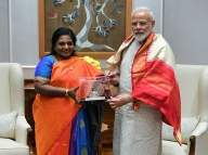 Telangana Governor meets PM, Home Minister