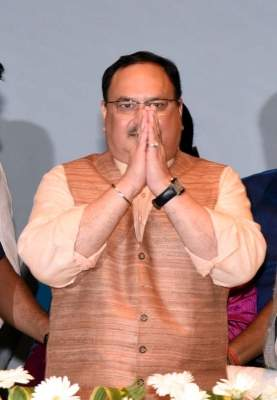 Nadda arrives to a warm welcome in Lucknow