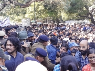 Visually impaired JNU students accuse police of detaining them
