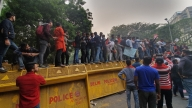 DUSU President, others detained during pro-JNU protest (Lead)