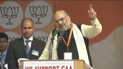 Shah has meal at Delhi BJP worker's house after campaigning