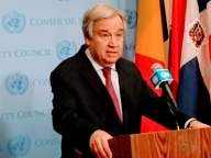 UN chief Guterres warns of losing COVID-19 war (Lead)