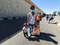 Borders sealed, yet their long journey on foot continues