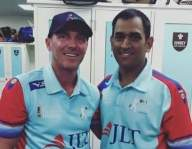 Damien Martyn shares old pic with 'champion' MS Dhoni