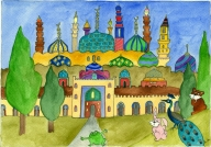 A nomad's journey through bright watercolours