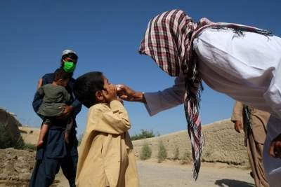 1st polio vaccination drive in Afghanistan since Taliban takeover (Ld)