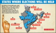 Bypolls for 56 Assembly, one LS seat in November