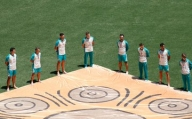 India, Aus players take part in 'barefoot circle' ceremony against racism