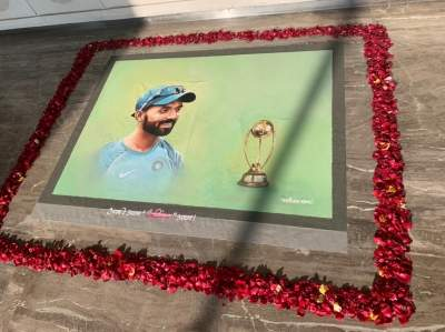 Rahane receives red-carpet welcome, Natarajan taken on a chariot (Lead)