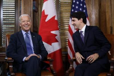 Biden's 1st foreign leader call to be with Trudeau