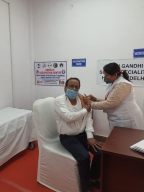 Delhi's first doctor hit by Covid elated after taking vaccine jab