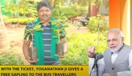 Famous as 'tree man', TN bus conductor wins PM's praise