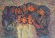 First Indian artist, Sonal Relekar-Ramnath's 'Sisterhood' heads for the Moon as part of The Peregrine Collection