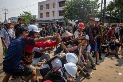 Myanmar coup cements relations between pro-democracy protesters and armed rebels