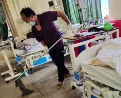 Covid positive Mizoram minister mops hospital floor, shares meal with others