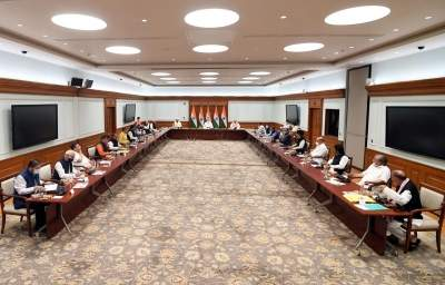 Committed to democratic process in J&K: PM at all-party meet