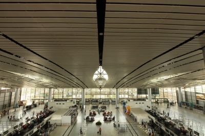 Daily passenger volume at Hyderabad Airport triples.