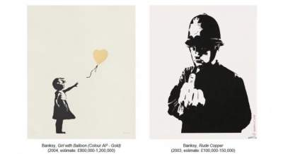 Banksy's 'Girl With Balloon' heads to auction