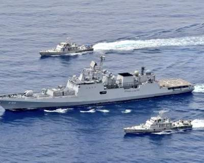 Indian Navy holds exercises in the Red Sea, not far from the Suez Canal