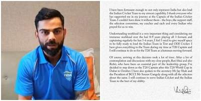 Virat Kohli to quit as T20I captain after T20 World Cup (lead)