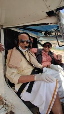 Centenarian who 'flew' aircraft says 'calmness' is key to staying energetic