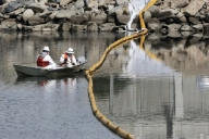 Authorities downgrade size of oil spill off California coast
