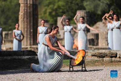 Flame for Beijing 2022 Winter Games lit in Ancient Olympia